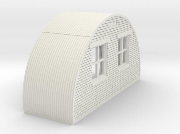 N-87-complete-nissen-hut-back-brick-right-door-16- in White Natural Versatile Plastic