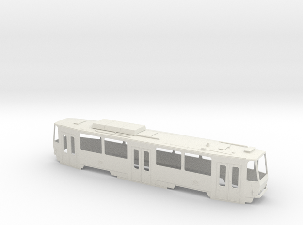Tatra T6A5 Sliding door 0 Scale [body] in White Natural Versatile Plastic: 1:48