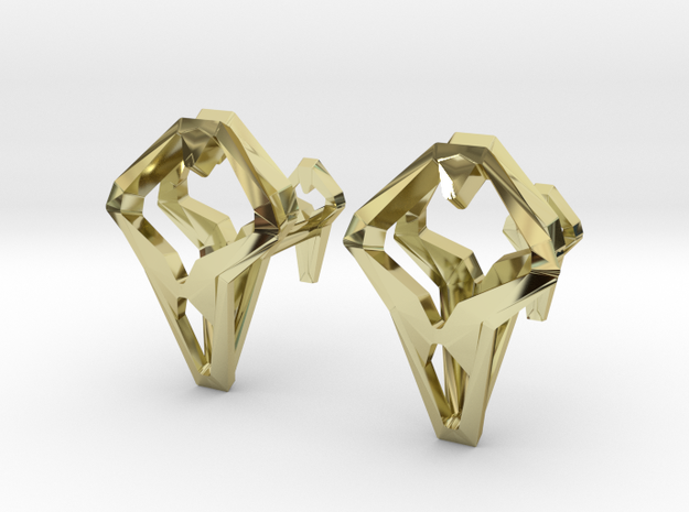 HEAD TO HEAD Unicon, Cufflinks in 18K Gold Plated