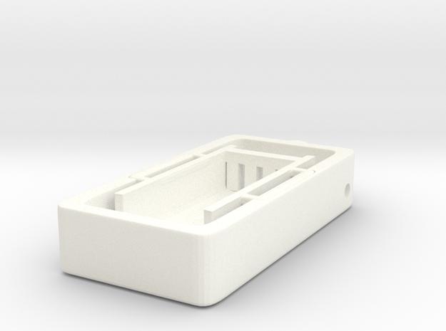 Electrophoresis Pendant in White Processed Versatile Plastic