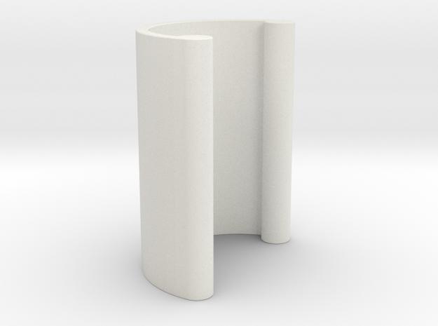 Furniture Handle 01 in White Natural Versatile Plastic
