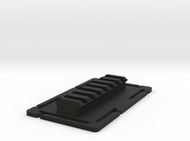 Molle Rail in Black Natural Versatile Plastic