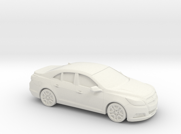 1/43 2013- Present Chevrolet Malibu in White Natural Versatile Plastic