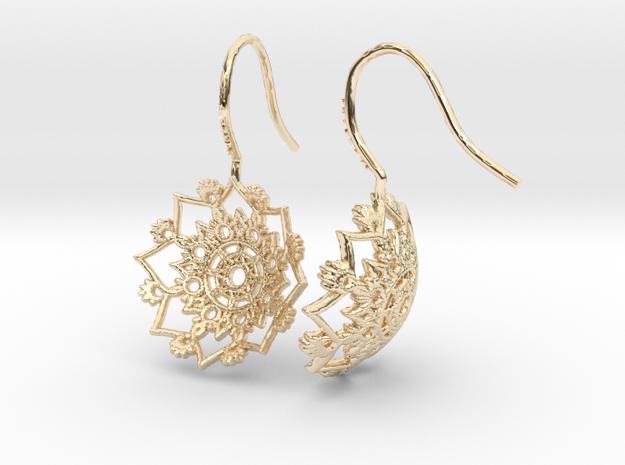 Snowflakes- Earrings in 14k Gold Plated