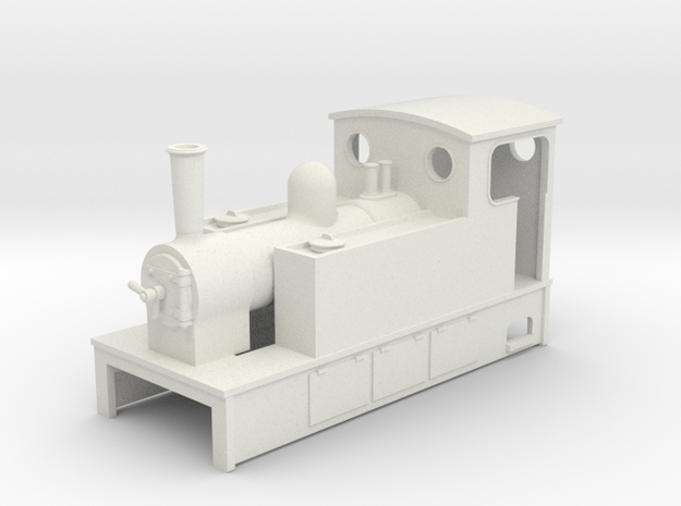TTn3 Side tank tram Loco 61  in White Natural Versatile Plastic