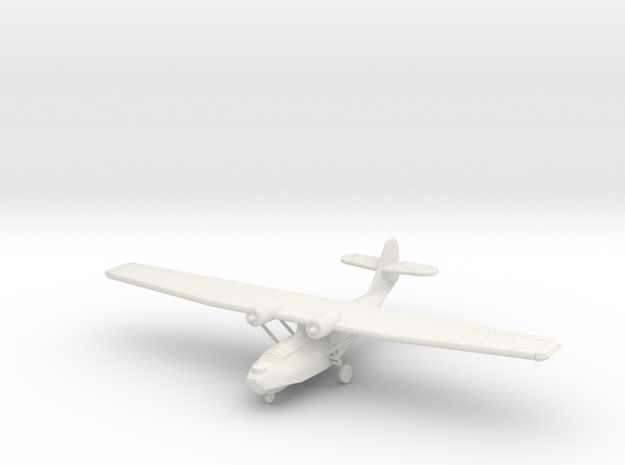 "Catalina PBY-5a ""Gear Down"" 1:220th Scale in White Natural Versatile Plastic"