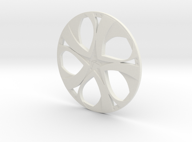 Wheel in White Natural Versatile Plastic