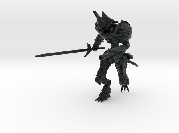 Cyberpunk Mecha, 15mm Scale in Black Hi-Def Acrylate