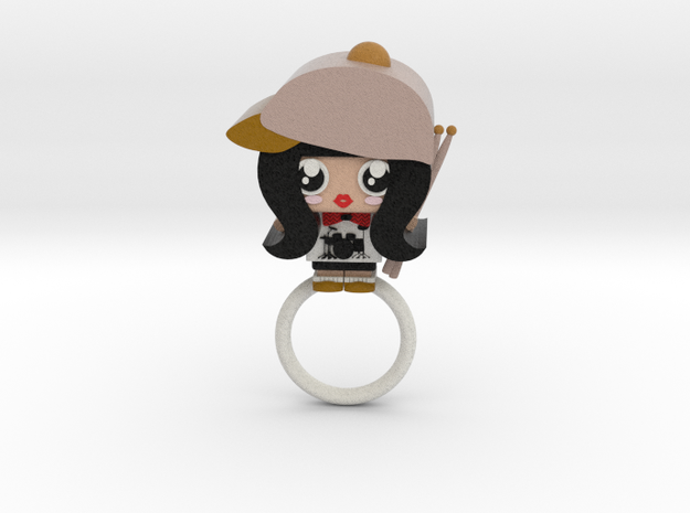 Drumplayer Ring from U-Dimensions in Full Color Sandstone