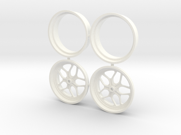 Billet Specialties Win Lite Front Spindle 1/12 in White Strong & Flexible Polished