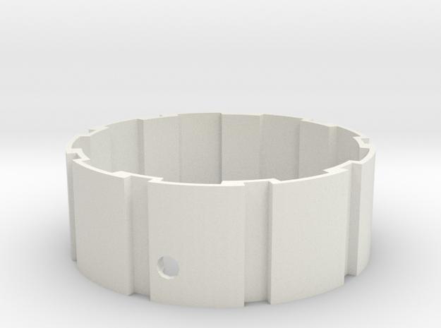 Hyperglide / belt-drive cog interface in White Natural Versatile Plastic