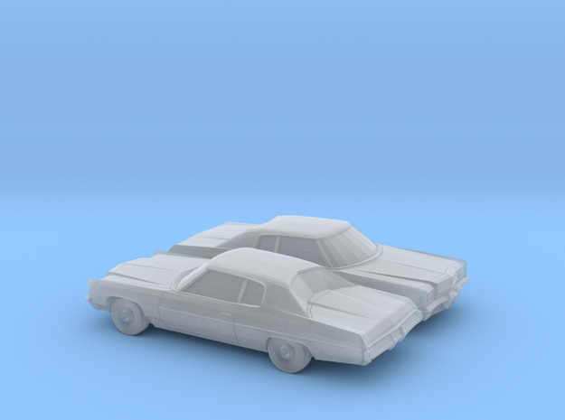 1/160 2X 1972  Chevrolet Impala Coupe in Smooth Fine Detail Plastic