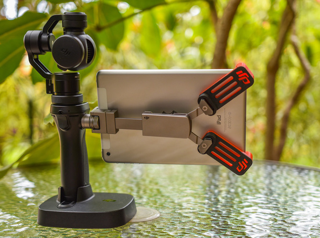 OsmoGrip - an iPad Mini mount for your DJI Osmo in White Strong & Flexible