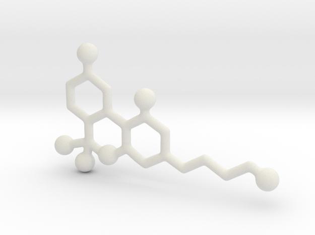 Molecules - Thc in White Natural Versatile Plastic