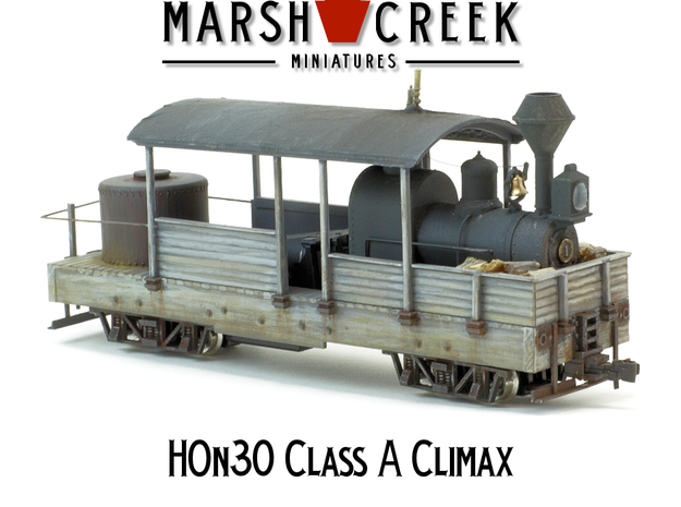 HOn30 Climax Class A in Frosted Extreme Detail