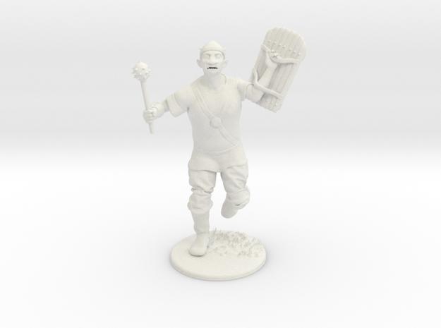 Goblin Miniature in White Natural Versatile Plastic: 1:60.96