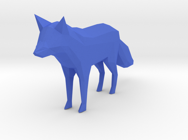 Low Poly Fox in Blue Strong & Flexible Polished