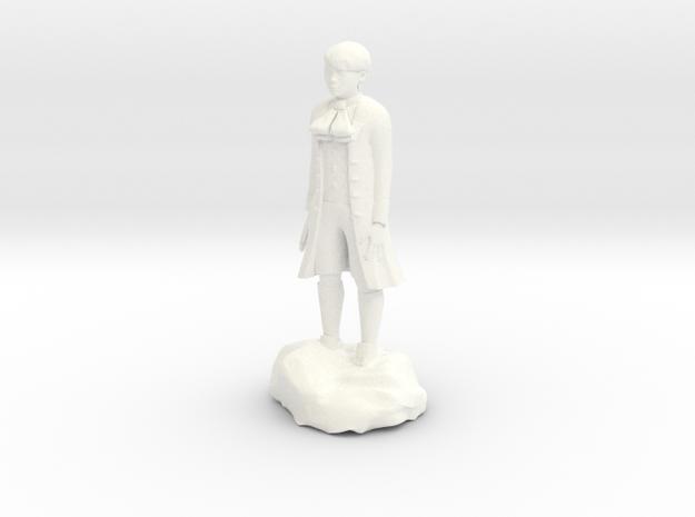 Billy, the demonic kid, in aristocrat attire. in White Processed Versatile Plastic