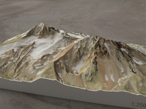North and Middle Sister, Oregon, USA, 1:25000