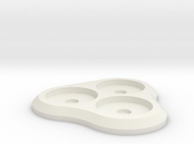 15mm 3-man MagTray 2 in White Natural Versatile Plastic