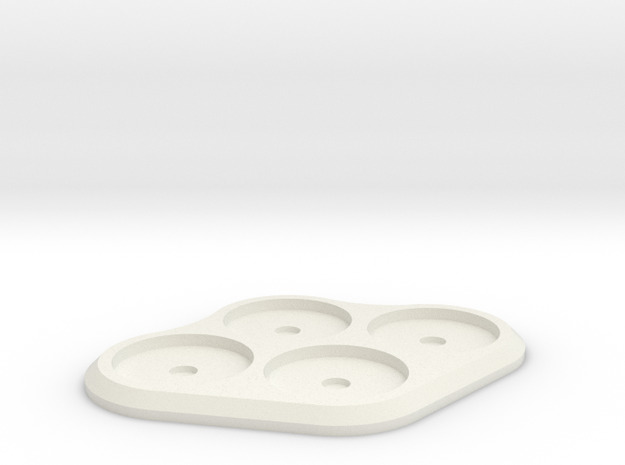 20mm 4-man Mag Tray in White Natural Versatile Plastic