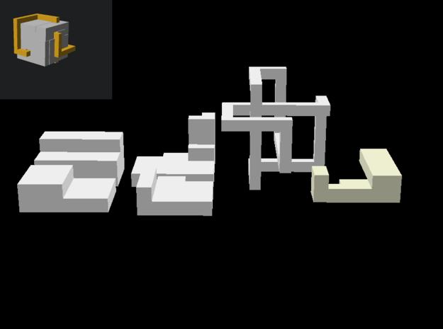 Puzzle mobius knot cube in Sandstone