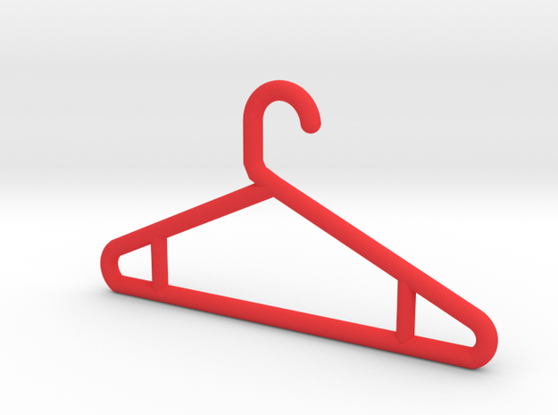 Hanger Keychain V2 in Red Strong & Flexible Polished