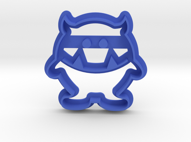 Monster Cookie Cutter in Blue Strong & Flexible Polished