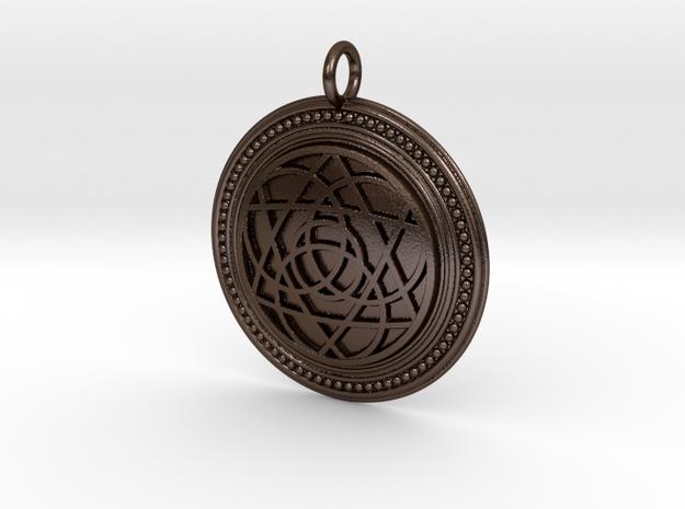 Codex of Ultimate Wisdom in Polished Bronze Steel