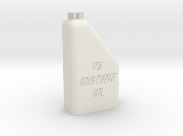 1/10 1L Oil Bottle in White Natural Versatile Plastic