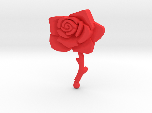 Bleeding Rose Shield - Piece 2 of 2 in Red Strong & Flexible Polished