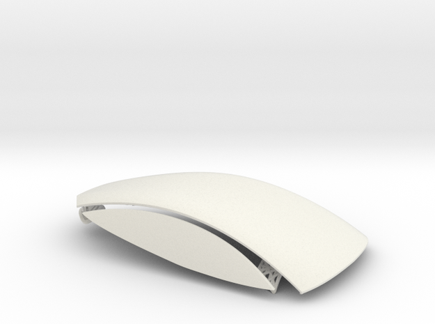 Toosa Slot car Accessories in White Natural Versatile Plastic