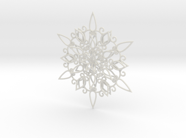Floral Snowflake Christmas Ornament 1