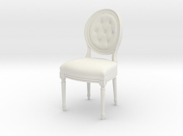 1:22 Louis XVI Side Chair (Custom Scale) in White Natural Versatile Plastic
