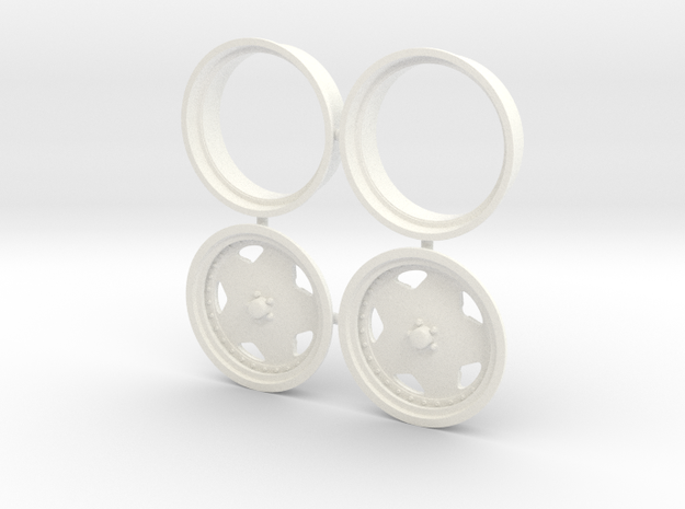 Centerline Pro Convo Front 1/12 in White Processed Versatile Plastic