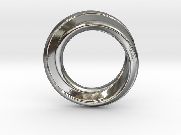 Möbius Strip Ring in Polished Silver