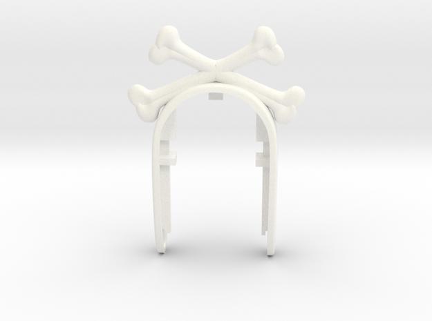 KEY FOB BONE in White Processed Versatile Plastic