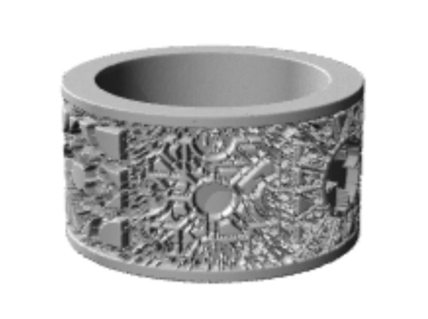Hellraiser size 11 version 1 Ring Size 11 in Frosted Extreme Detail