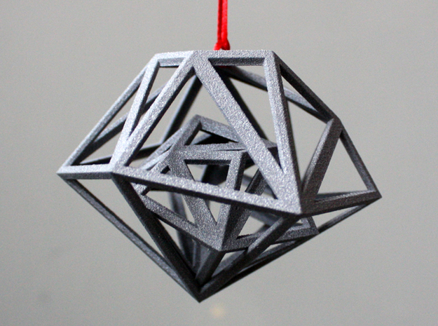 Double Gem Decoration 3d printed one inside the other = 3d printing goodness
