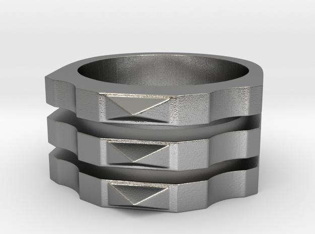 Octagon in Raw Silver