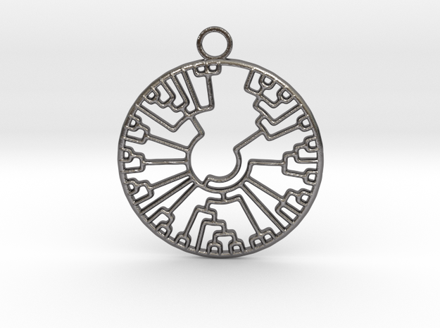 Phylogenetic Tree in Polished Nickel Steel