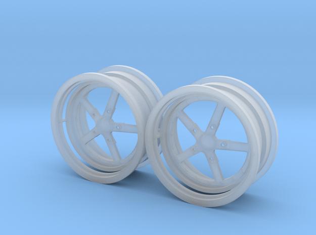 Weld 5 spoke Rear 1/25 in Smooth Fine Detail Plastic