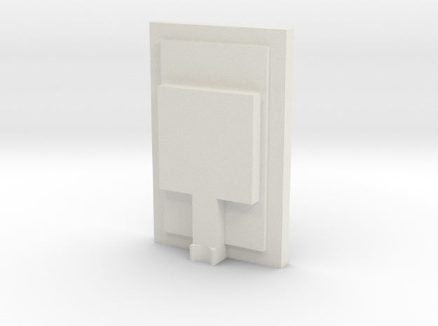 1/48 Chicago Pneumatic Speed Recorder Rear Cover in White Natural Versatile Plastic