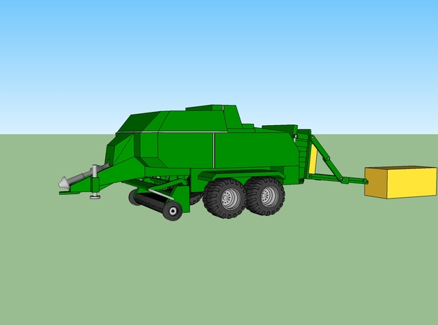 Farming Square Large Baler in Smooth Fine Detail Plastic