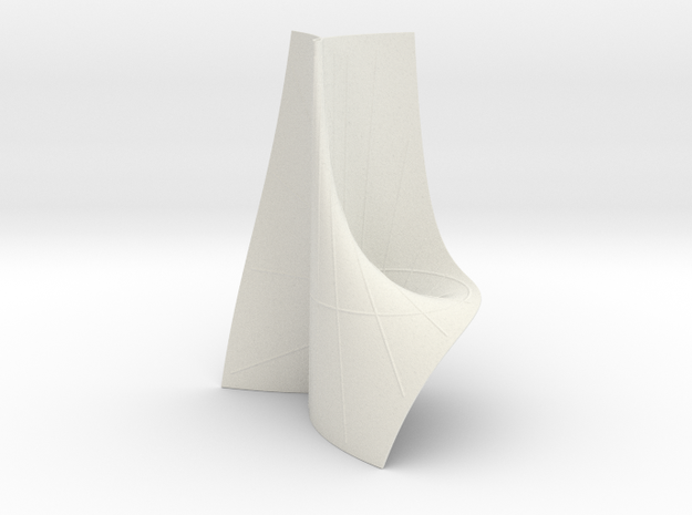 Cayley's ruled cubic in White Natural Versatile Plastic