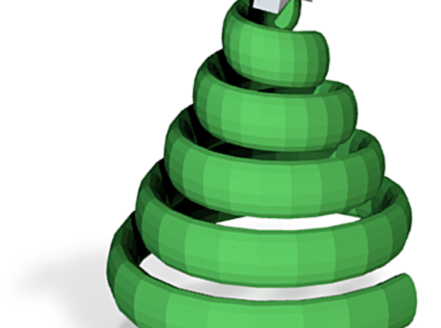 Xmas Swirl Tree 3d printed