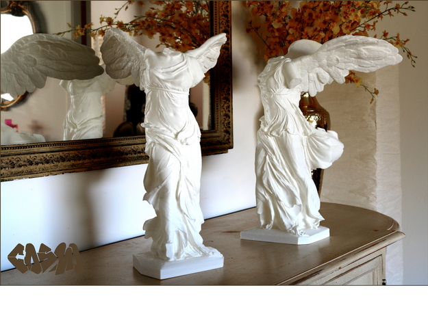 """Winged Victory (10"""" tall) in White Natural Versatile Plastic"""