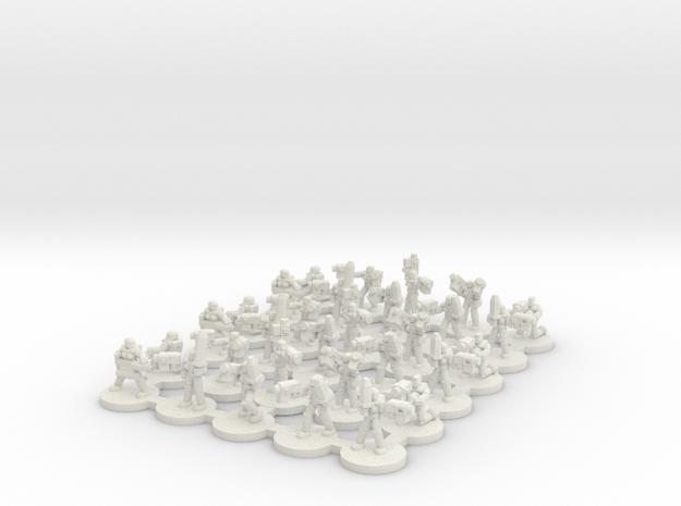 Female Power Armour CC Platoon(6mm) in White Natural Versatile Plastic