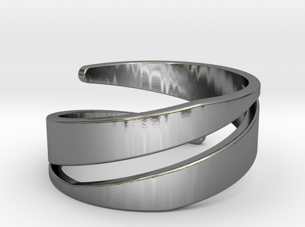Spiral Ring (US Size 6) in Polished Silver: 6 / 51.5
