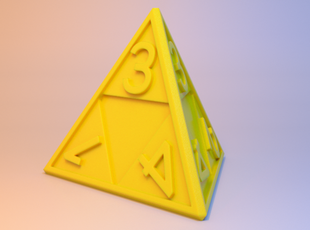 Triforce D4 3d printed